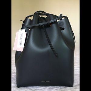 Mansur Gavriel Bucket Bag in Black / Flamma